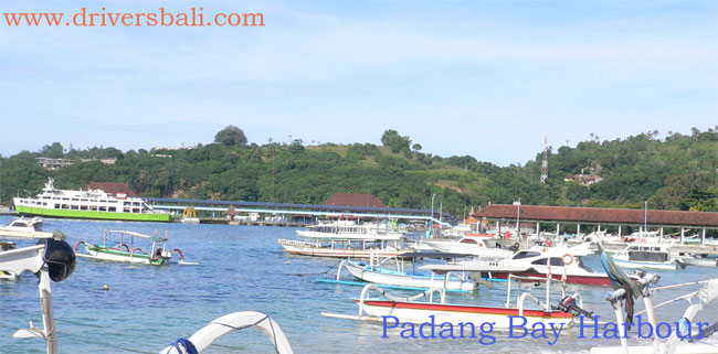 harbour at padangbai east bali